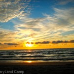 Toronto Summer Camp DiscoveryLand Camp sunset Lake Huron