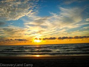 Toronto Summer Camp DiscoveryLand Camp sunset Lake Huron