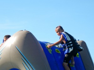 summer camp programs - water slide