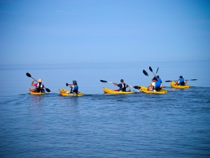 summer camp activities kayakin trip at DiscoveryLand Camp